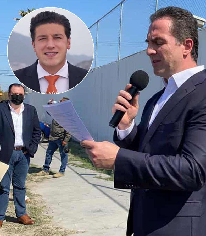 Samuel García queda expuesto: Adrián de la Garza lo denuncia por lavado de dinero y tratos con el narco