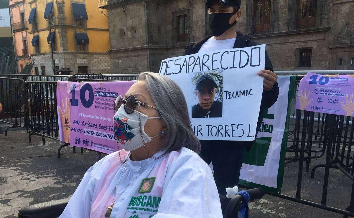 Madres de desaparecidos alistan marcha en CDMX